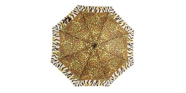 Dámský deštník s leopardím potiskem Ferré Milano