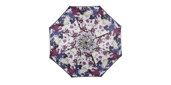 Dámský květovaný vystřelovací deštník Ferré Milano
