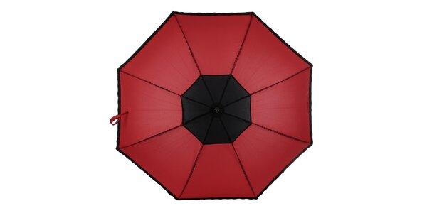 Dámský červeno-černý vystřelovací deštník Ferré Milano