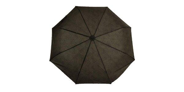 Pánský skládací deštník s černým logem Ferré Milano