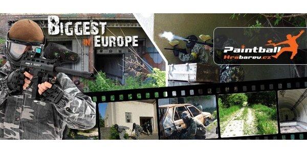 4 hodiny paintballu v největších areálech Evropy