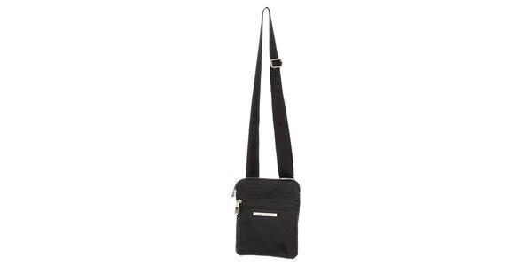 0b3ed3c313 Pánská černá taška se zipy Tommy Hilfiger