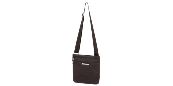 Pánská hnědá taška s kapsou na zip Tommy Hilfiger