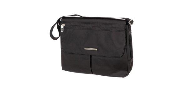 Pánská černá taška se zipovou kapsou Tommy Hilfiger
