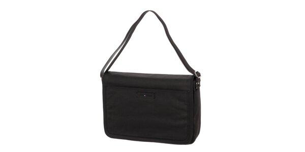 Pánská černá taška s klopou na magnet Tommy Hilfiger