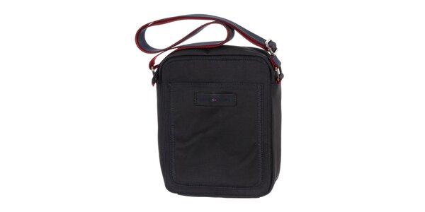 Pánská tmavě modrá taška s červenými prvky Tommy Hilfiger