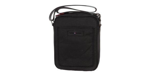 d203d6d796 Pánská černá plátěná taška Tommy Hilfiger