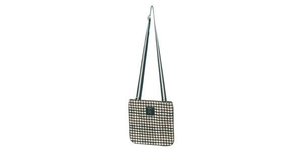 Dámská zeleno-krémová vzorovaná kabelka Tommy Hilfiger