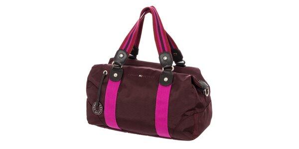 Dámské obdélníková kabelka Tommy Hilfiger - fialová