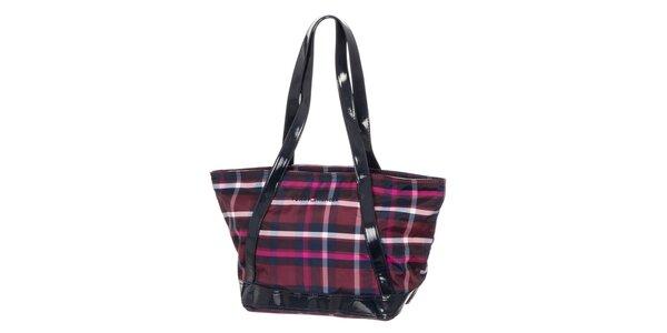 Dámská fialová kabelka se vzorem Tommy Hilfiger