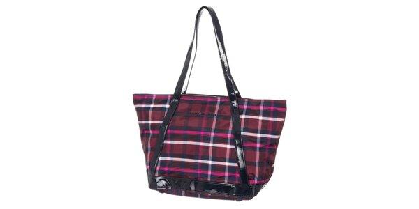 Dámská kabelka se vzorem Tommy Hilfiger - fialová