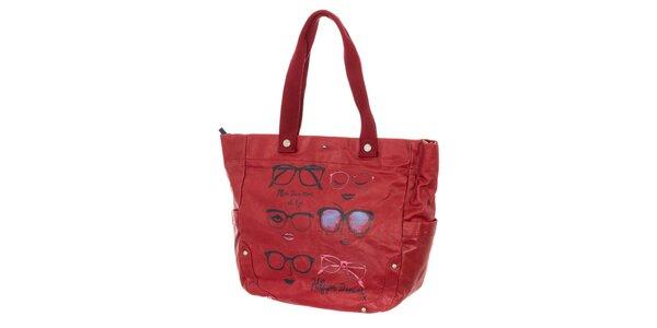 Dámská červená kabelka s potiskem Tommy Hilfiger