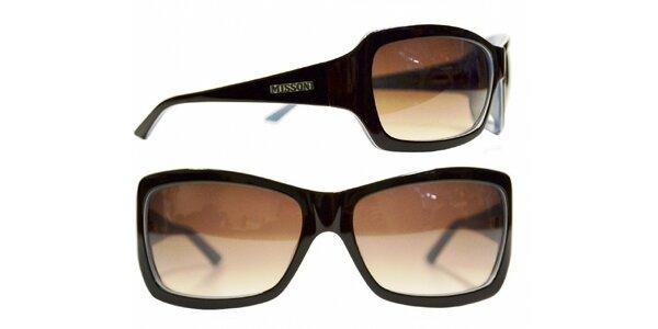 Dámské tmavě hnědé sluneční brýle Missoni