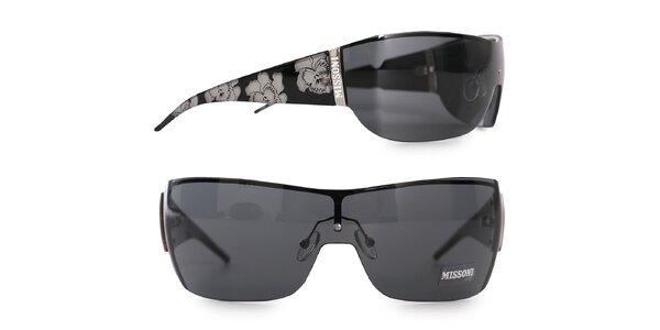 Dámské černé sluneční brýle Missoni se zrcadlovými skly