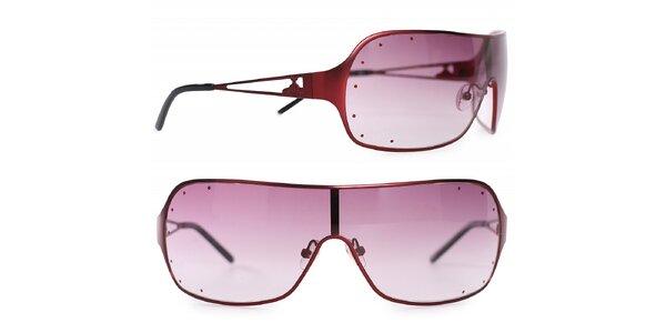 Dámské červené kovové sluneční brýle Vivienne Westwood