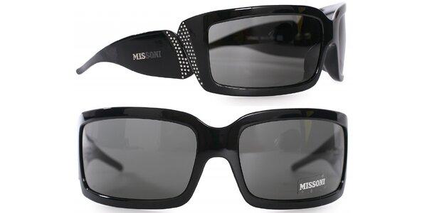 Dámské černé sluneční brýle Missoni s kamínky