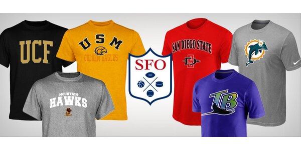 Trička pro fandy slavných týmů NBA, NHL aj.