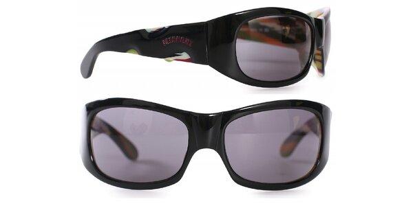 Dámské černé sluneční brýle Missoni s duhovými detaily
