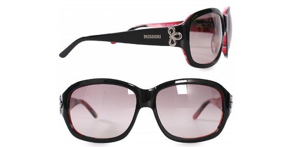 Dámské černo-růžové sluneční brýle Missoni