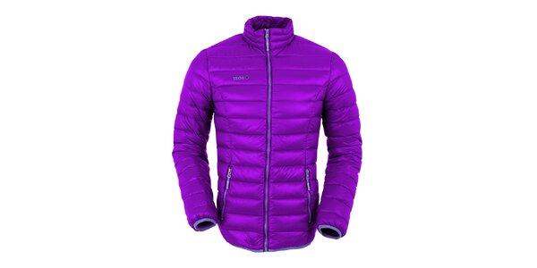 Dámská fialová péřová bunda s tmavě fialovými prvky Izas