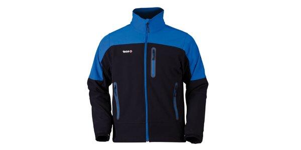 Pánská modro-černá bunda na zip Izas