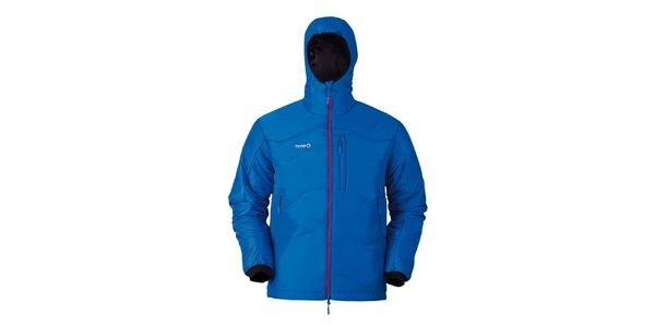 Pánská modrá bunda s náprsní kapsou Izas