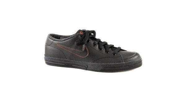 Dámské černé kožené tenisky Nike