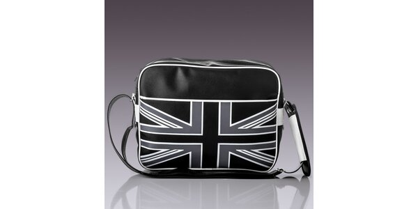 Pánská taška s černo-bílou vlajkou Solier