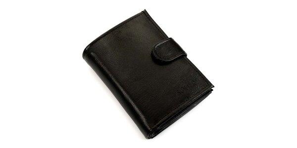 Pánská černá kožená peněženka Solier