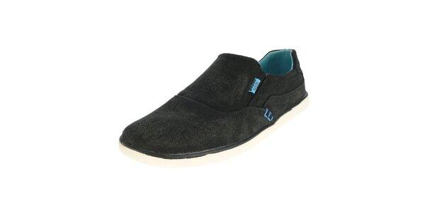 Pánské antracitové nazouvací boty Beppi