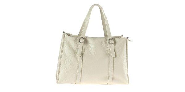 Dámská obdélníková kabelka v krémové barvě Tina Panicucci