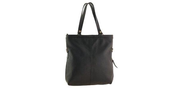 Dámská černá kabelka se zipovou aplikací Tina Panicucci
