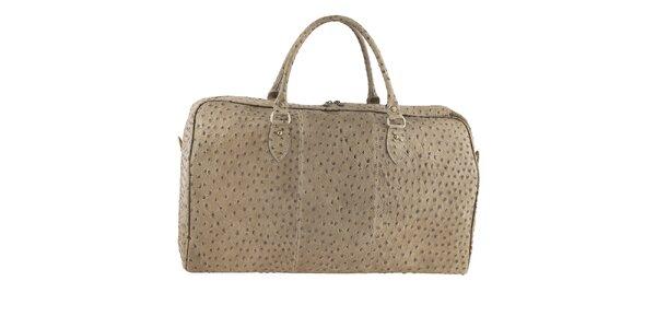 Dámská cestovní taška s motivem pštrosí kůže Tina Panicucci
