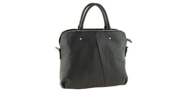 Dámská černá kožená kabelka Tina Panicucci