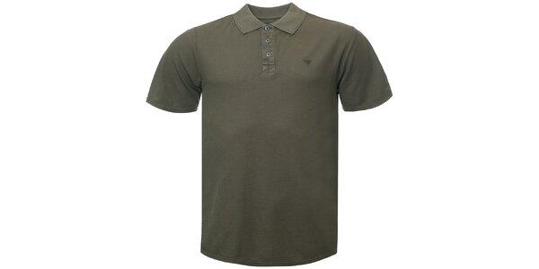 Pánské khaki polo tričko Bushman