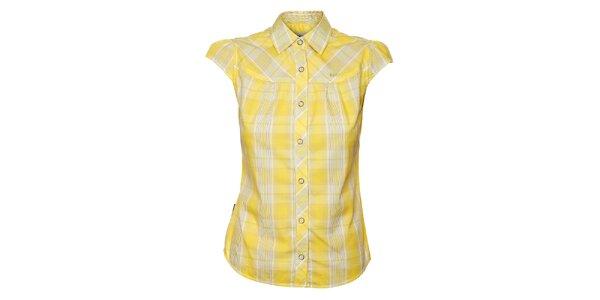 Dámská žlutá kostkovaná košile Bushman