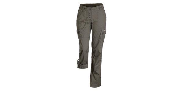Dámské tmavé kalhoty s možností zkrácení nohavic Bushman