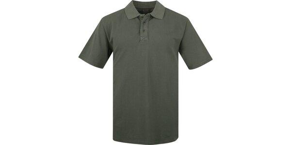 Pánské tmavě olivové polo triko Bushman