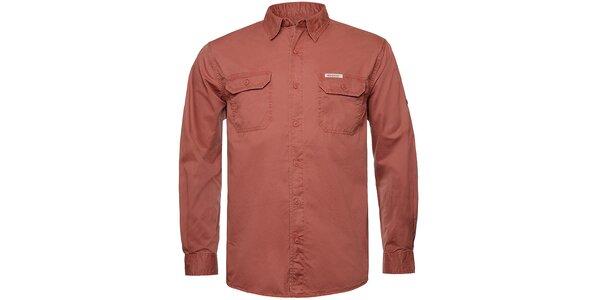 Pánská cihlově červená košile Bushman