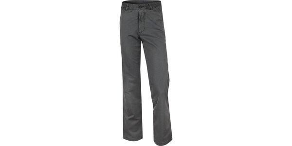 Pánské šedé bavlněné kalhoty Bushman