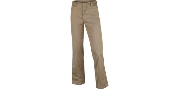 Pánské pískově hnědé bavlněné kalhoty Bushman