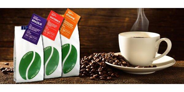 Kvalitní zrnková káva - 3 druhy