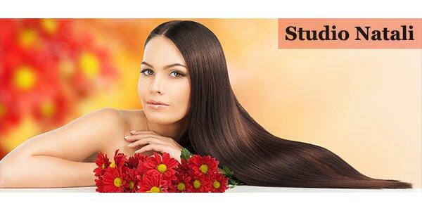 Kadeřnický balíček s barvením vlasů nebo ošetření vlasů brazilským keratinem