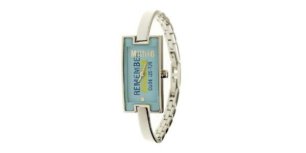 Dámské ocelové hodinky Mustang s modrým ciferníkem