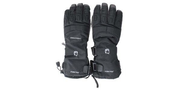 Černé lyžařské rukavice Authority