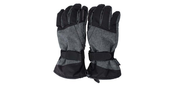 Pánské černo-šedé lyžařské rukavice Authority