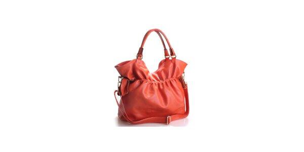 Dámská temně oranžová kožená kabelka Belle&Bloom