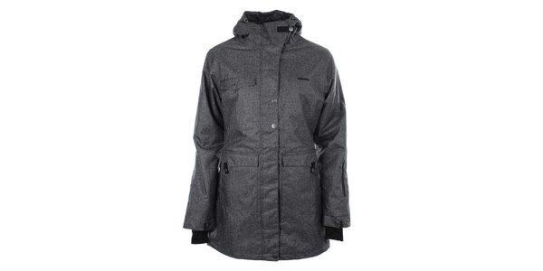 Dámská šedá prodloužená bunda s kapucí Authority