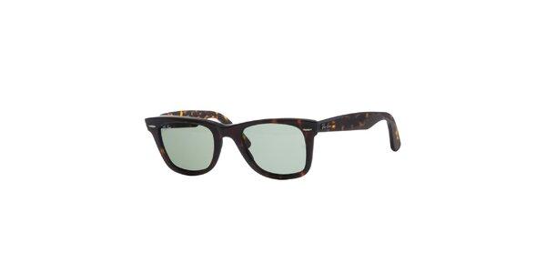 Tmavě hnědé žíhané sluneční brýle Original Ray-Ban Wayfarer