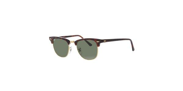 Hnědě žíhané sluneční brýle Ray-Ban